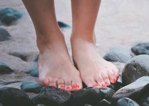 Füße nach einer Pediküre
